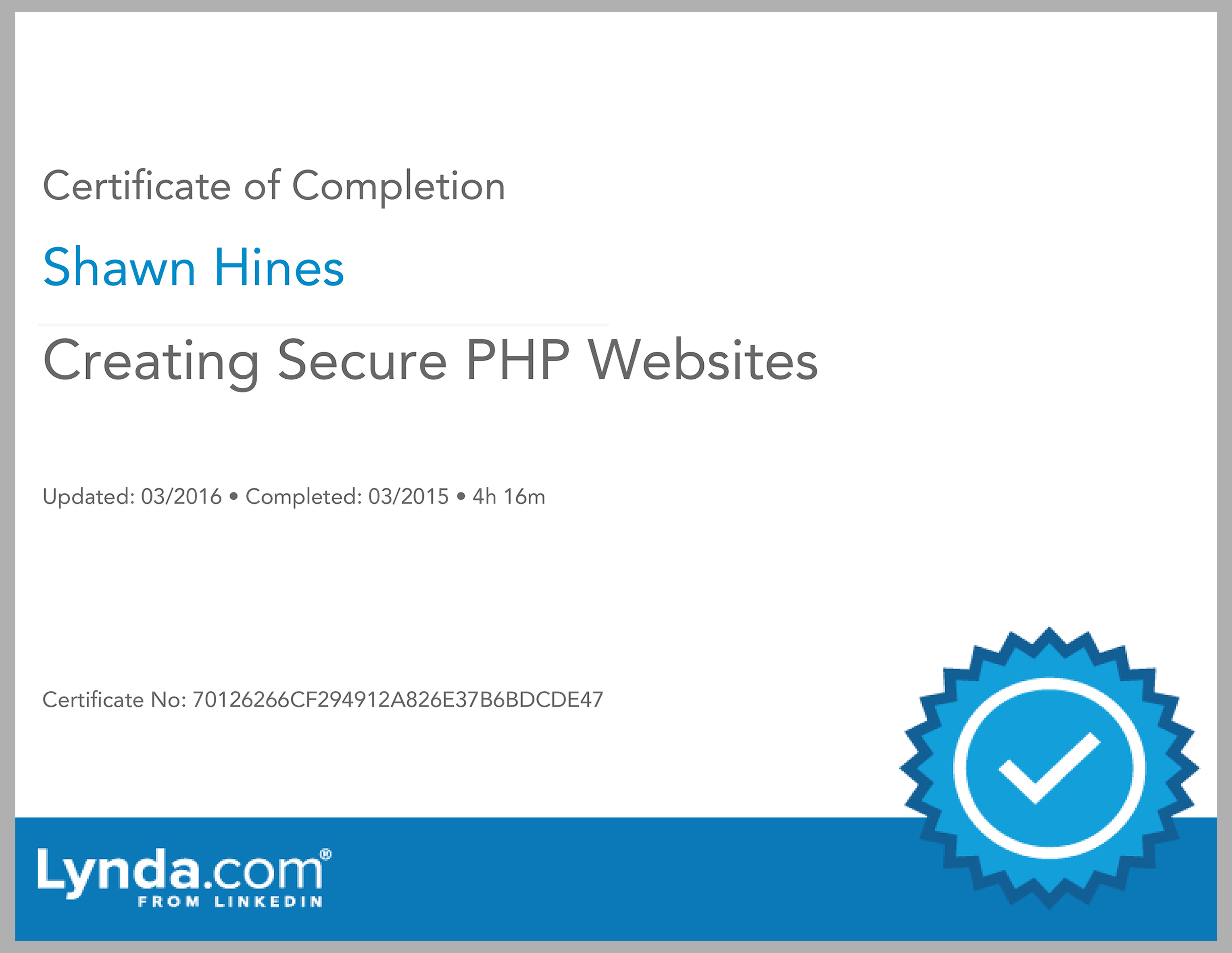 Creating Secure PHP Websites - Lynda.com