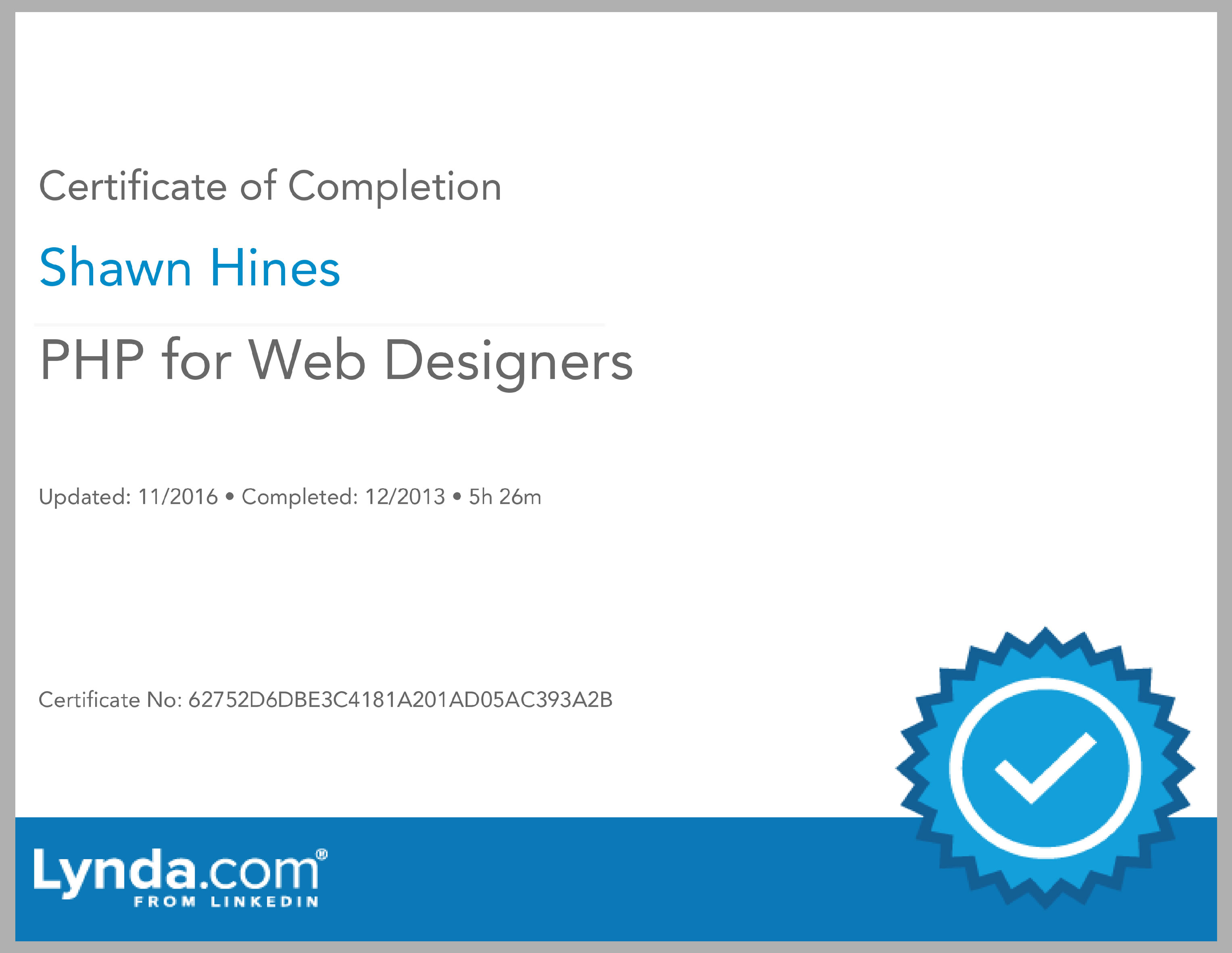 PHP for Web Designers - Lynda.com
