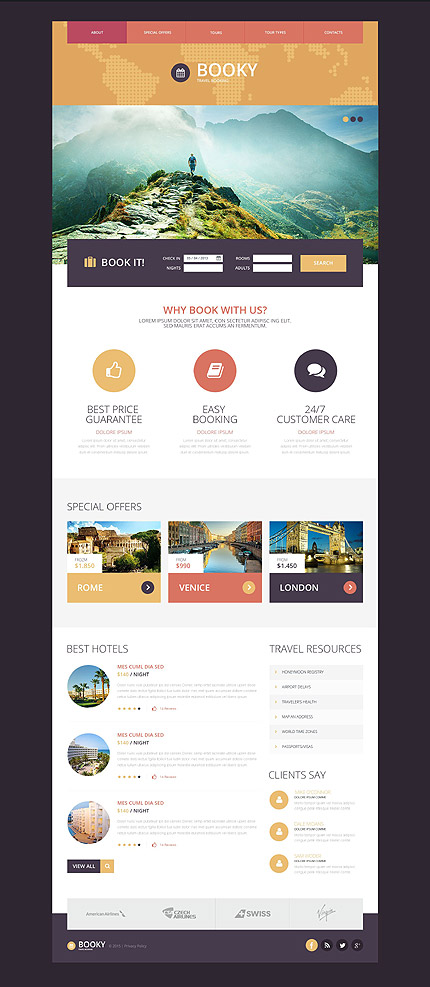 Tour Operator Website Template